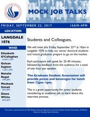 GSA Event Flyer- Job Talks
